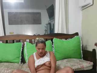 Milf latina se graba en Videochat